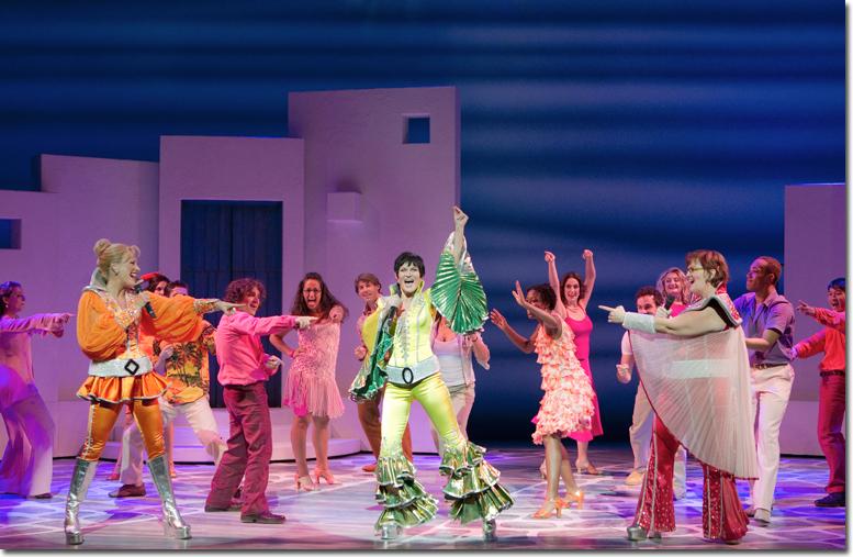 The Company of Mamma Mia - photo by Joan Marcus